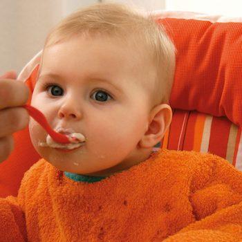 Baby füttern mit Babybrei
